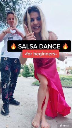 Salsa Dance Video, Salsa Dance Lessons, Ballroom Dance Lessons, Steps Dance, Cool Dance Moves, Dance Tips, Dance Workout Videos, Dance Videos, Salsa For Beginners