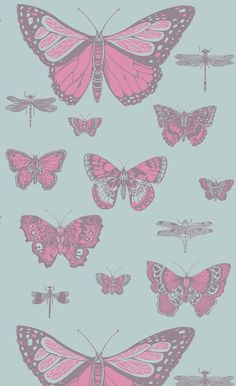 Papier peint Butterflies & Dragonflies - Cole and Son