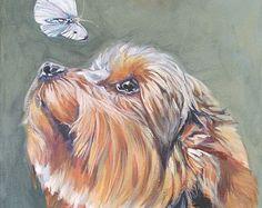 Yorkshire Terrier yorkie portret CANVAS print van door TheDogLover
