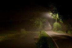 RvD2010-02348 #nacht #polderweg #verlichting #straatverlichting #zomer #natuur #verwondering #rvdfotografie