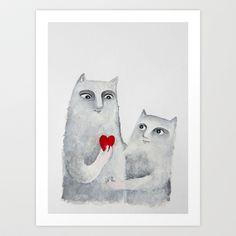 For you Art Print by Elena Goatelli - $20.00
