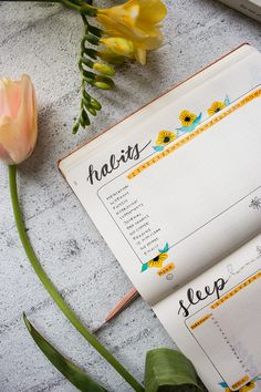 HABIT TRACKER - Bullet Journal Setup April: Rupi Kaur Inspired