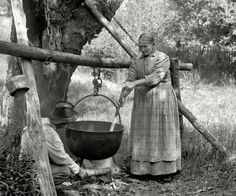 Kettles were for wash, sorghum, rendering, they were nearly essential.