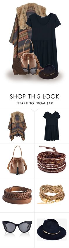 """""""Warm and Cozy"""" by abigaillieb ❤ liked on Polyvore featuring Accessorize, MANGO, Elizabeth and James, Chan Luu, Pieces, Karen Walker, Ted Baker, Max Studio, women's clothing and women's fashion"""