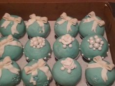 Tiffany cupcakes Tiffany Cupcakes, Treats, Desserts, Food, Sweet Like Candy, Tailgate Desserts, Goodies, Deserts, Meals