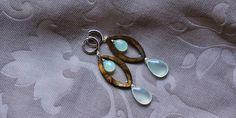 orecchini donna argento madreperla calcedonia