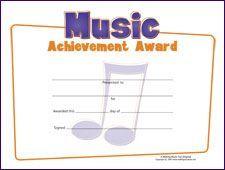 Music Awards Editable Music Award Certificates  Music Awards