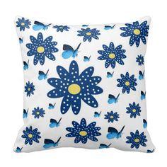 Almohadas de MoJo del americano, flores