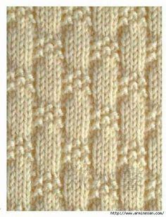 knit and purl stitch patterns Baby Knitting Patterns, Knitting Stiches, Knitting Charts, Loom Knitting, Knitting Designs, Stitch Patterns, Crochet Patterns, Purl Stitch, How To Purl Knit