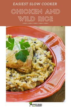 Chicken and Wild Rice made in the crock pot is a really easy family meal to make anytime Quick Crockpot Meals, Quick Family Meals, Best Crockpot Recipes, Slow Cooker Recipes, Beef Recipes, Cooking Recipes, Healthy Recipes, Budget Recipes, Quick Recipes