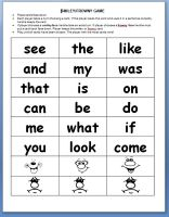 Peterson's Pad: sight words