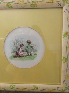 Vintage print of two small childrens by Greenway by EMTWTT on Etsy