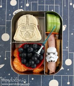 A cool Buzzfeed article featuring 18 Star Wars themed lunches.I would pin all 18 but thought it would be overkill.