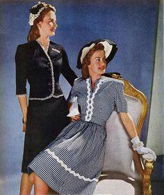 A moda nos anos 40: principais traços e características