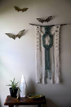 Bohemian home decor w/ macrame wall hanging by BermudaDream