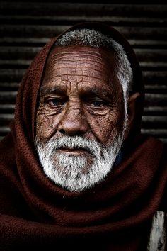 Old man, Old Delhi, India