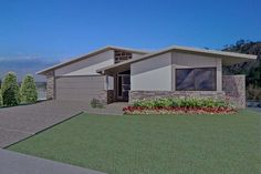 Ranch Style House Plan - 3 Beds 2 Baths 1633 Sq/Ft Plan #489-2 Exterior - Front Elevation - Houseplans.com
