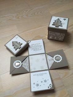 Hallo ihr Lieben, heute gibt es keine Karte, sondern nochmal eine Explosionsbox. Denn auch zu Weihnachten ist diese Art Verpackung immer e...