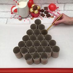 calendário do Advento - Weihnachten - New Ideas Christmas Crafts For Kids, Christmas Projects, Simple Christmas, Holiday Crafts, Christmas Holidays, Diy Christmas Advent Calendar, Christmas Decorations Diy Crafts, Advent Calendar Fillers, Make An Advent Calendar