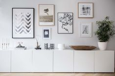 Bright and airy two-bedroom Scandinavian apartment interior