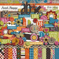 Digital Scrapbooking Kit, This Year by Melissa Bennett