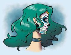 Sailor Neptune, Sailor Moon Art, Sailor Moon Halloween, Group Art, Original Art, Art Prints, The Originals, Artist, Death
