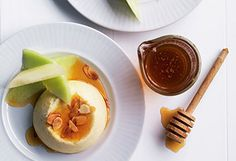 Gebackener Ricotta mit Melonen und Honig
