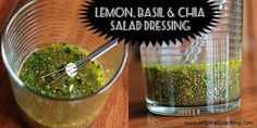Lemon, Basil & Chia Salad Dressing