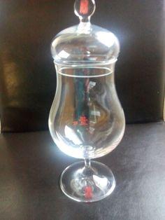 Asbach Uralt Glas mit Glasdeckel Vintage Rar unbenutzt