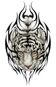 White Tiger Tattoo by BrickhouseBrandy,  Go To www.likegossip.com to get more Gossip News!