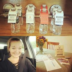 Look at our cute bottle tags and Welcome Sign #4 From @gia_realtor_ny Great open house today!! 10 couples/families checked out my niskayuna home. I have a good feeling we will be getting an offer or two. Possibly picked up a few buyers too!! #niskayuna #newyork