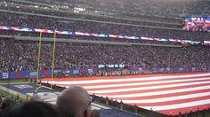 US National Anthem & Salute to Service (NY Giants vs New England Patriots) - Nov 15, 2015 #NFL #USA #nationalanthem #NYGiants #NewEngland #military #Flag