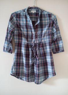 Kup mój przedmiot na #vintedpl http://www.vinted.pl/damska-odziez/koszule/10131539-koszula-w-kratke-niebieska-wiazana