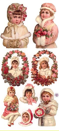Pink Christmas stickers