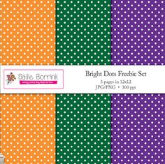 """FREE - """"Free Bright Polka Dots Set for Scrapbooking, Backgrounds Commercial""""- Go to The Best of Teacher Entrepreneurs for this and hundreds of free lessons.  Pre-Kindergarten - 8th Grade   #FreeLesson   http://www.thebestofteacherentrepreneurs.net/2013/02/free-misc-lesson-free-bright-polka-dots.html"""
