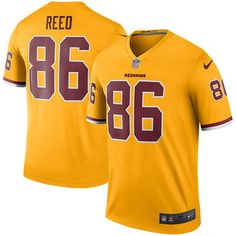 new arrival 4b6e7 f1fb9 nike redskins 86 jordan reed gold youth stitched nfl limited ...