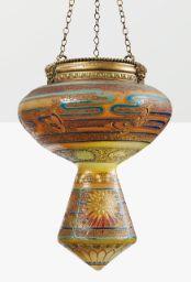EMILE GALLÉ GRANDE LAMPE DE MOSQUÉE, VERS 1890