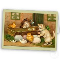 Kittens and Chicks Easter Greeting