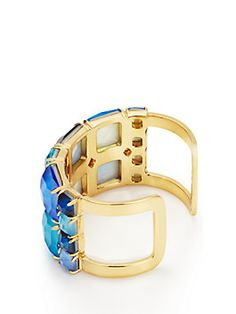 madison ave. collection swan dive wide cuff, blue multi