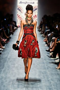 """Graz-based designer Lena Hoschek wowed the audience at Mercedes Benz Fashion Week in Berlin with her designs inspired by African prints. The collection titled """"Hot Mama Africa"""" – ouch, yes that's what it was really called – combined feminine cuts from the 50ies and 60ies with the colorful and multifaceted prints. It wasn't as bold... [Read more]"""