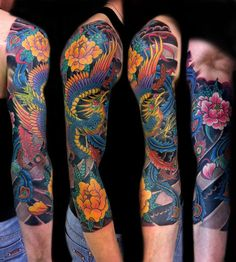 Love the highly contrasting colors in this sleeve