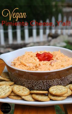 My new favorite vegan pimiento cheese recipe! It's so, so easy.