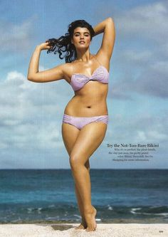 crystal renn; she is beautiful! Perfect sized woman