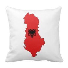 Albania - map and flag - pillow - jastek (ne madhesi te ndryshme) - Shqiperia - harta e Shqiperise dhe shqiponja e flamurit