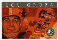 Lou Groza 1998 Football Hall Of Fame Signature Autograph Auto HOF Browns /2500 in Sports Mem, Cards & Fan Shop, Autographs-Original, Football-NFL, Trading Cards   eBay