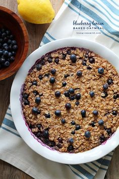 Start your morning right with blueberry lemon baked oatmeal! Easy to make and reheats perfectly so you can have a delicious, healthy breakfast all week. Took MUCH more than 25 minutes bake, however. Aim for 45-50 minutes minimum.