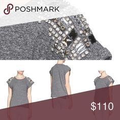 Maje Emile embellished tee 1 Worn once,size 1 =xs-s,size label and brand label removed. Very beautiful piece,❌NO TRADE‼️ Maje Tops Tees - Short Sleeve