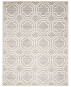 Safavieh Amherst Indoor/Outdoor AMT411B Light Grey/Ivory 9' x 12' Area Rug | macys.com