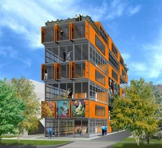 The First Mid Rise Container Building In U S Is Planned For Downtown Salt
