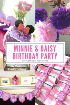 Thinking about having a Minnie & Daisy themed birthday party for your little one? Check out these great ideas! It's all pink, purple, and adorable!